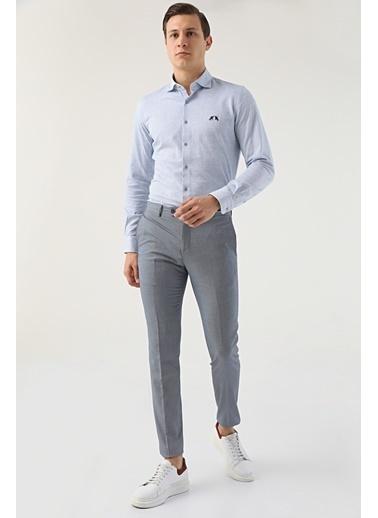 TWN Armürlü Kumaş Pantolon Lacivert